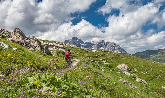 Mountainbiking the  Arlberg mountains