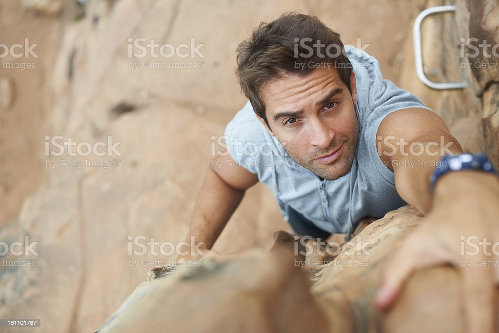 Mountain-climbing is gripping stuff royalty-free stock photo