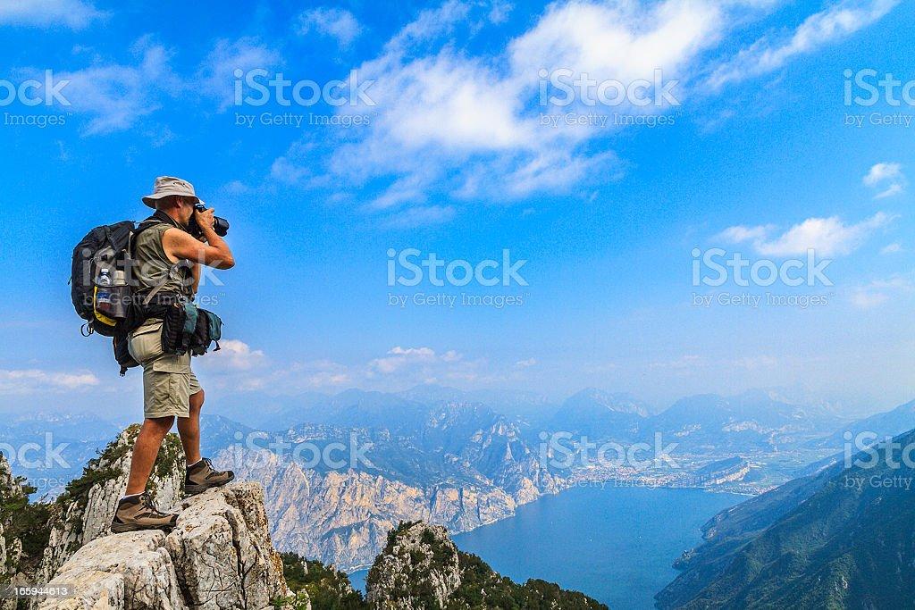 Mountaineer Photographer royalty-free stock photo