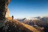 Solo alpine hiking