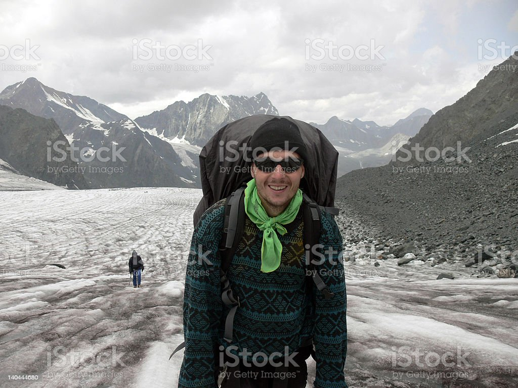 Mountaineer_on_Glacier royalty-free stock photo