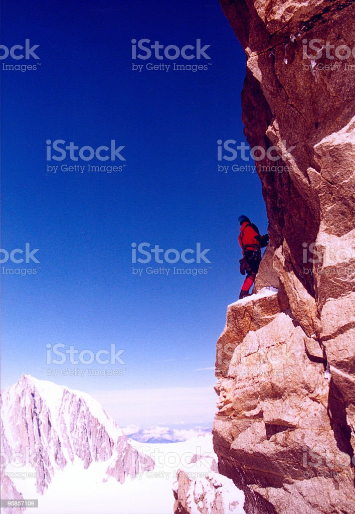 Mountaineering: A little scary royalty-free stock photo
