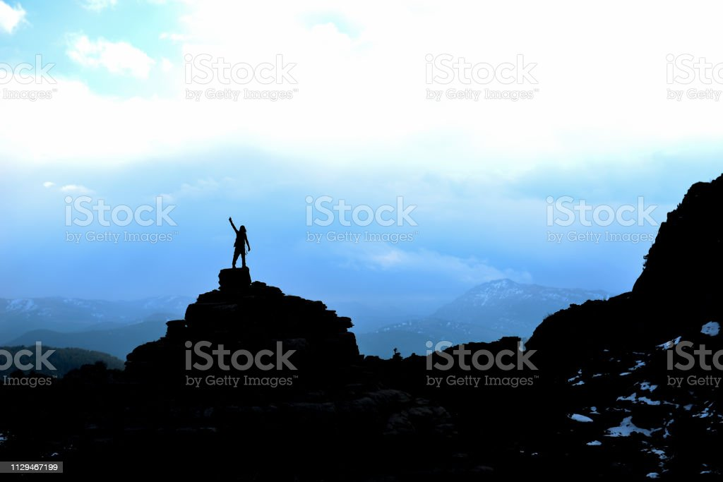 mountaineering as a life style stock photo