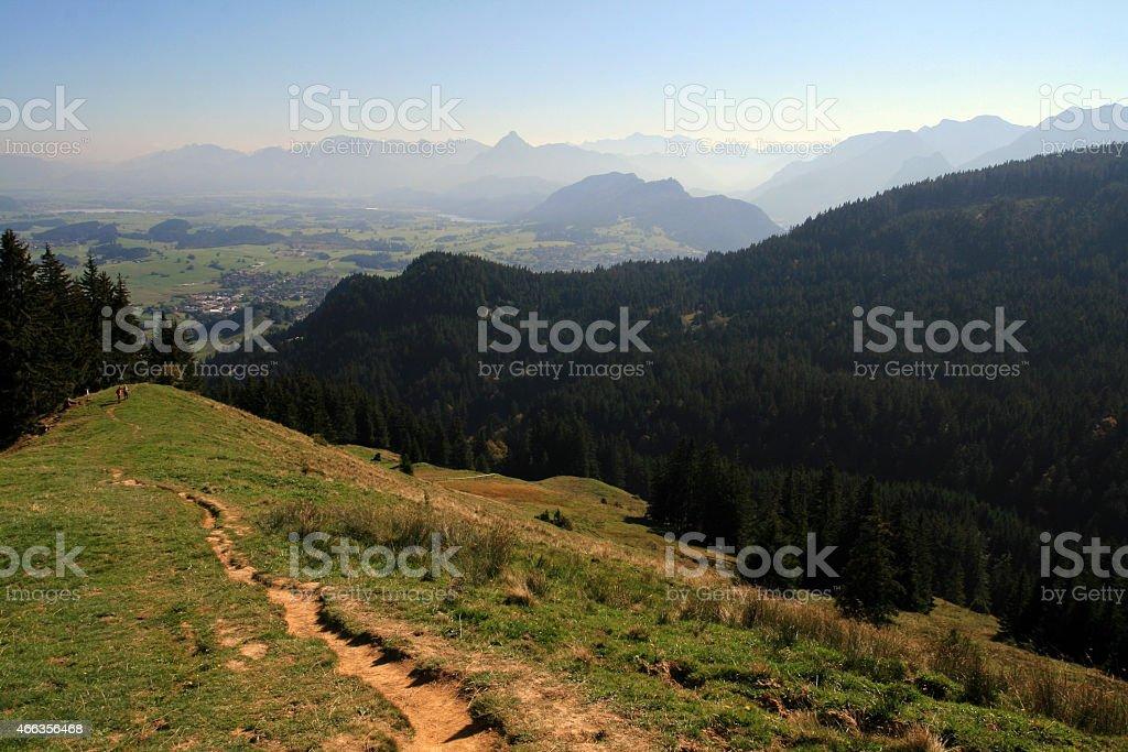 Mountaineering in the Allgäu stock photo