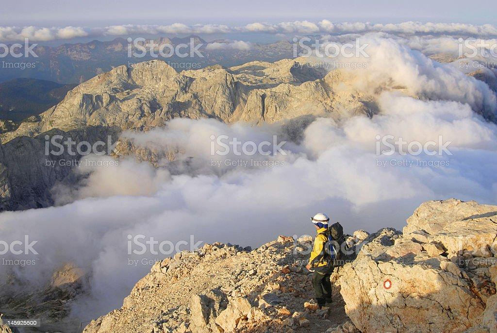 Mountaineering royalty-free stock photo