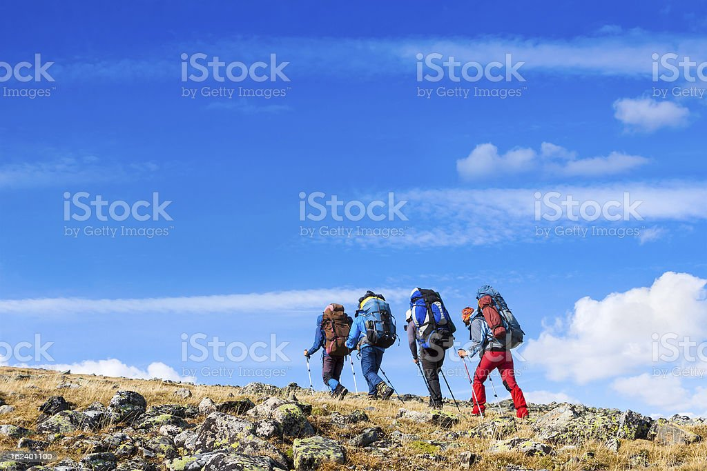 mountaineering royalty-free stock photo