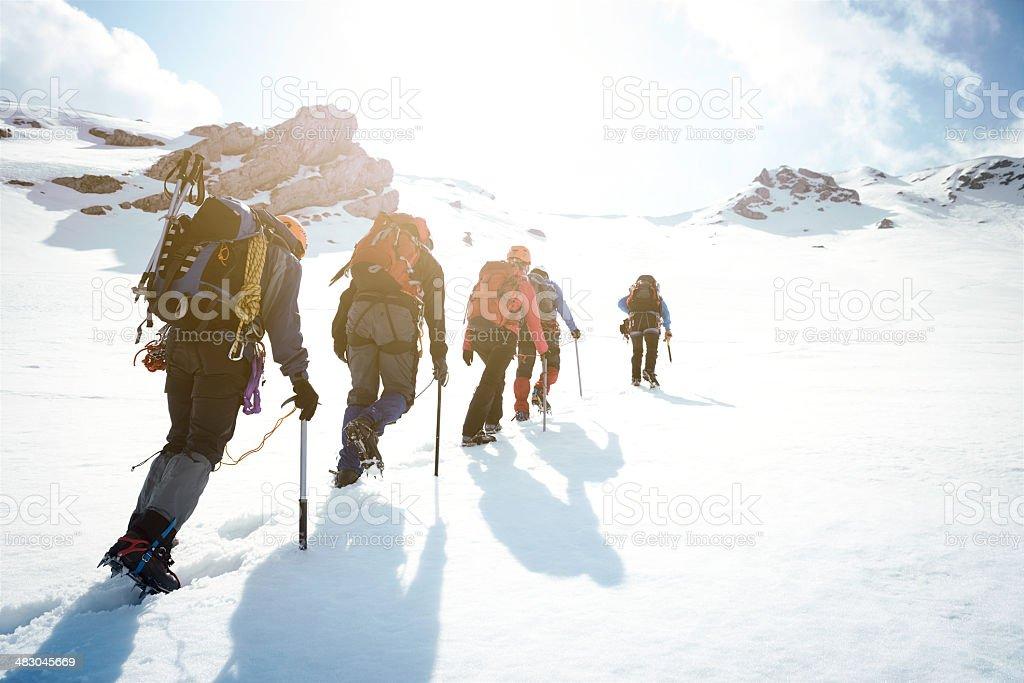 Wspinaczka górska  - Zbiór zdjęć royalty-free (Alpinizm)