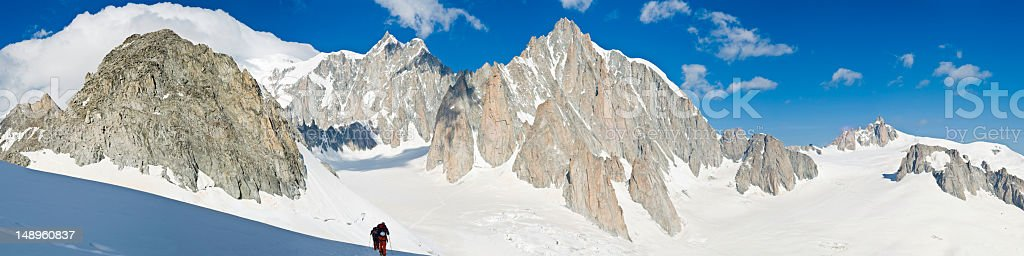 Mountaineers in high Alps royalty-free stock photo