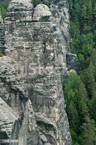 Mountaineers on a cliff (Saechsische Schweiz - Germany)