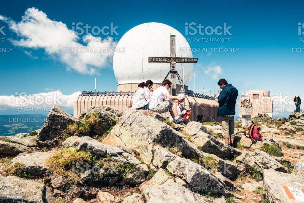 Mountaineers On Grosser Speikkogel stock photo