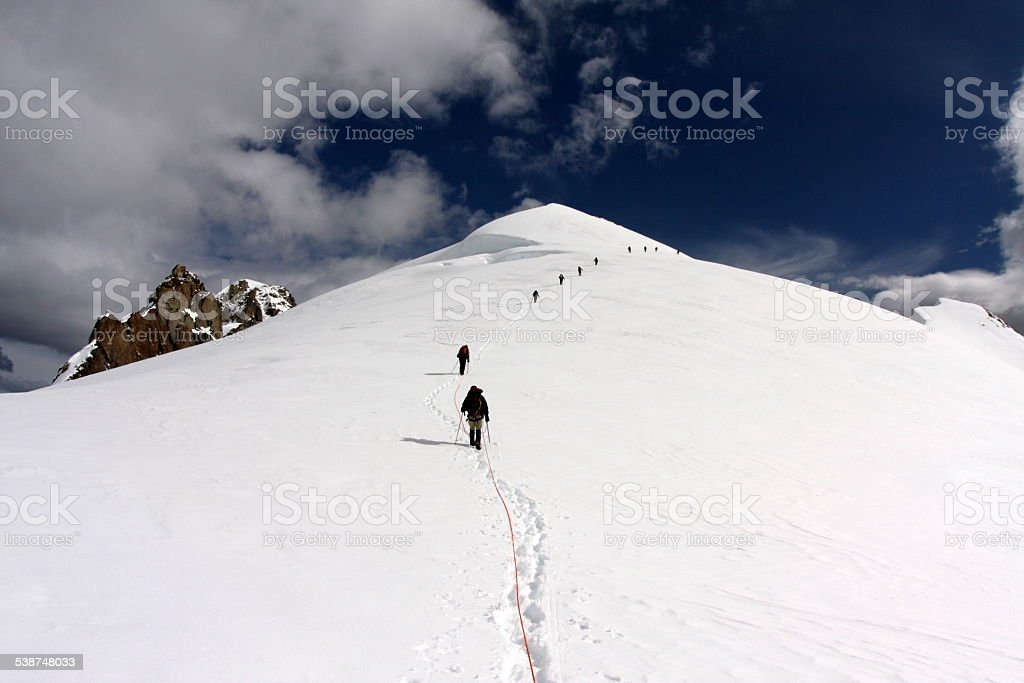 Mountaineers stock photo