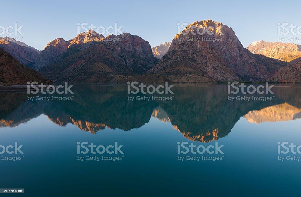 Mountainl lake view stock photo