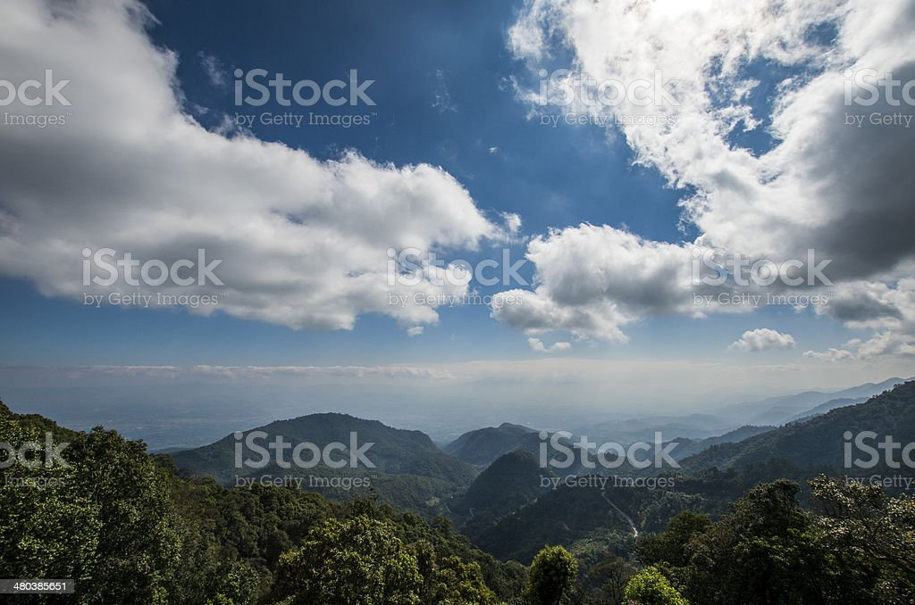 Mountainous landscape in Thailand royalty-free stock photo