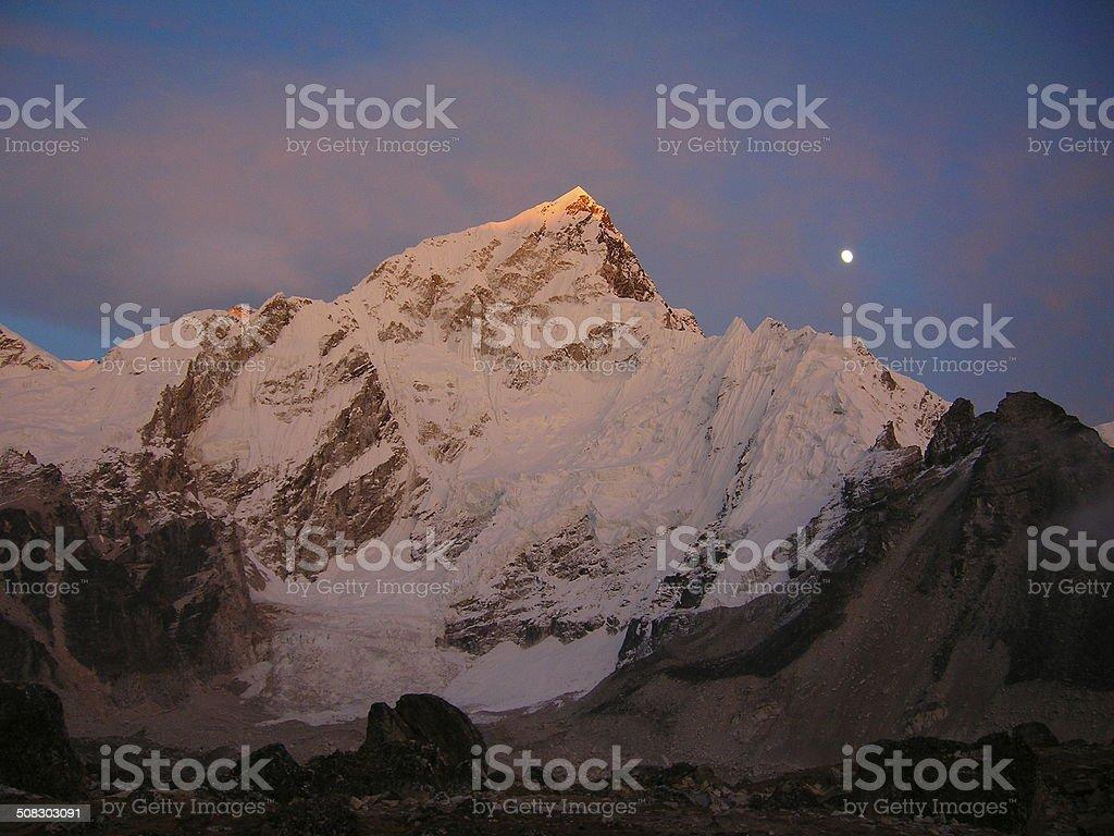 Mountainous Moon stock photo