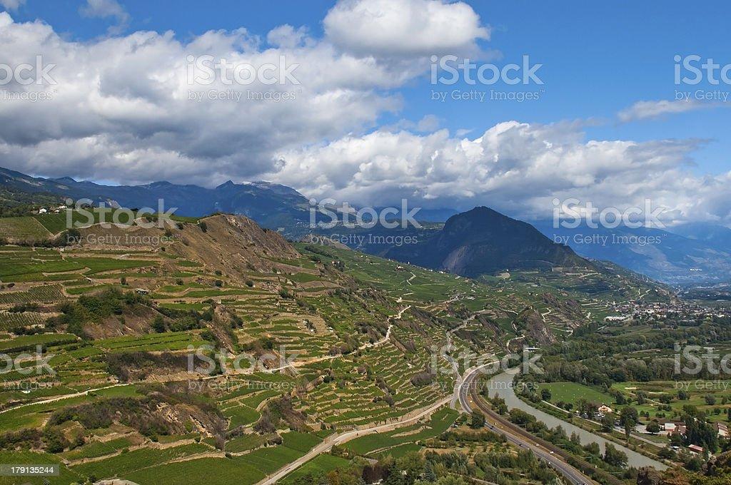 mountainous switzerland royalty-free stock photo