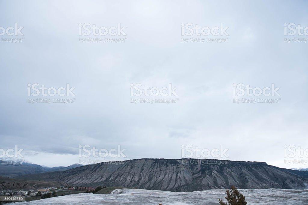 Mountainous texture stock photo