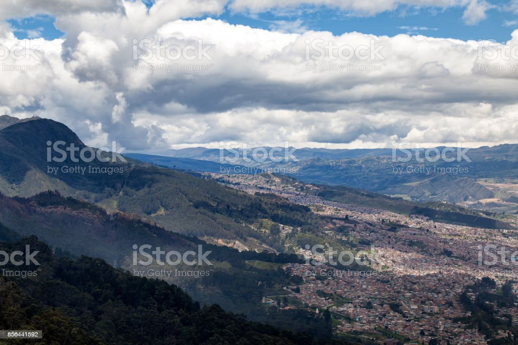 Mountains above Bogota stock photo