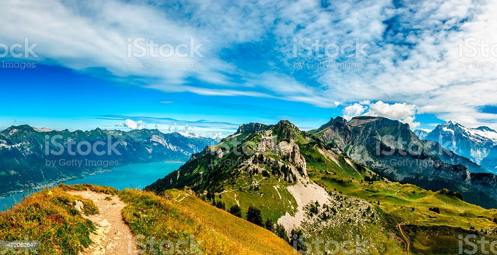 Mountains above Interlaken and Brienze lakes - III stock photo