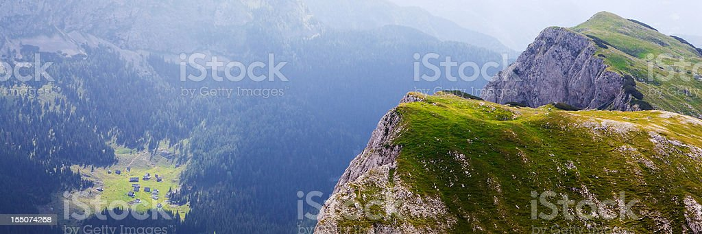Mountains above remote village royalty-free stock photo