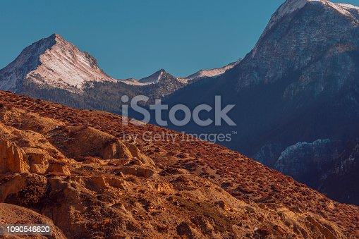 istock Mountains above the hills, Annapurna Circuit Trek, Nepal 1090546620