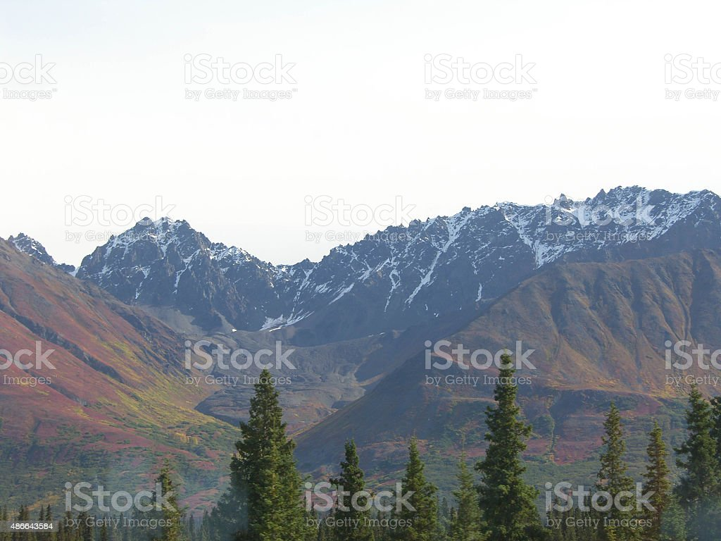 Mountains Alaska stock photo