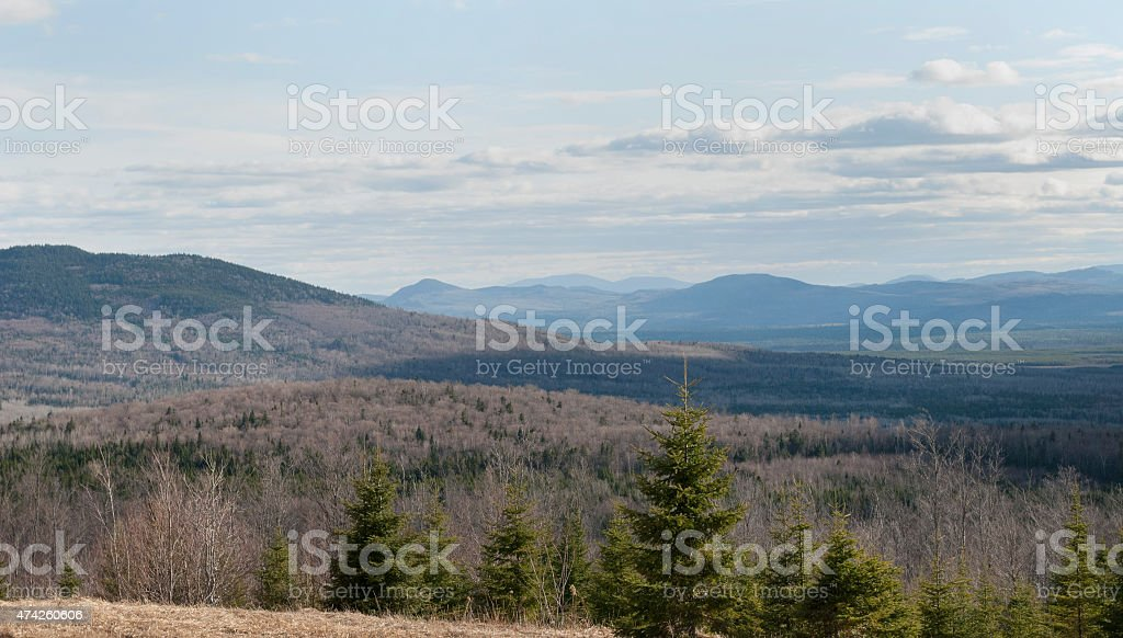 Mountains Along The Northeast U.S. - Canadian Border stock photo