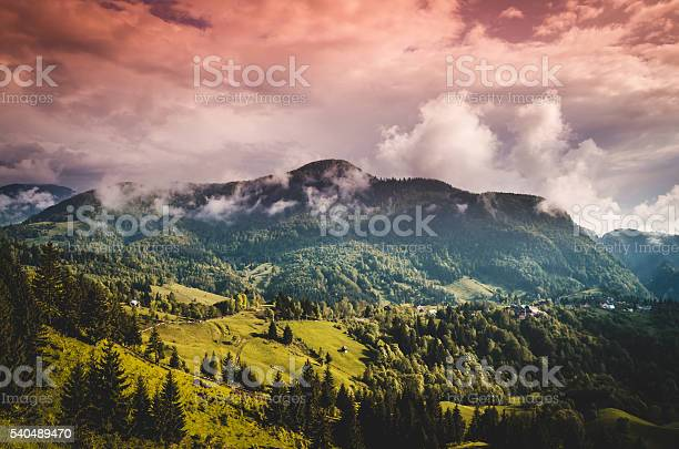 Photo of Mountains and clouds in the rainforest