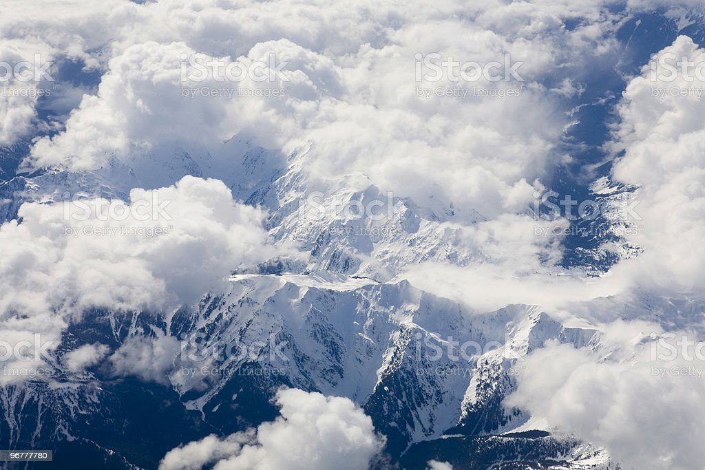 Mountains and clouds royalty-free stock photo