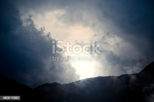 istock Mountains and Cloudy Sky 480615992