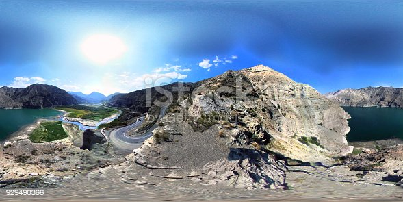 istock Mountains and Lake 360 degree view 929490366