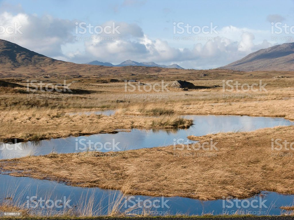 Mountains and lake in Ireland royalty-free stock photo