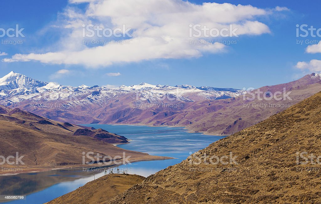 Mountains and lakes royalty-free stock photo