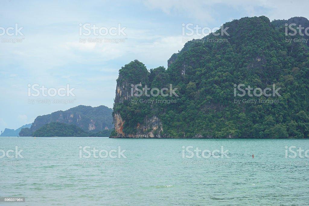 Mountains and sea in Krabi, Thailand royalty-free stock photo