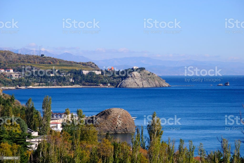 Mountains and sea. royalty-free stock photo