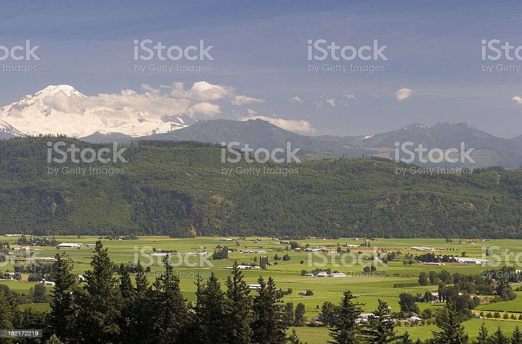 Mountains and valley stock photo