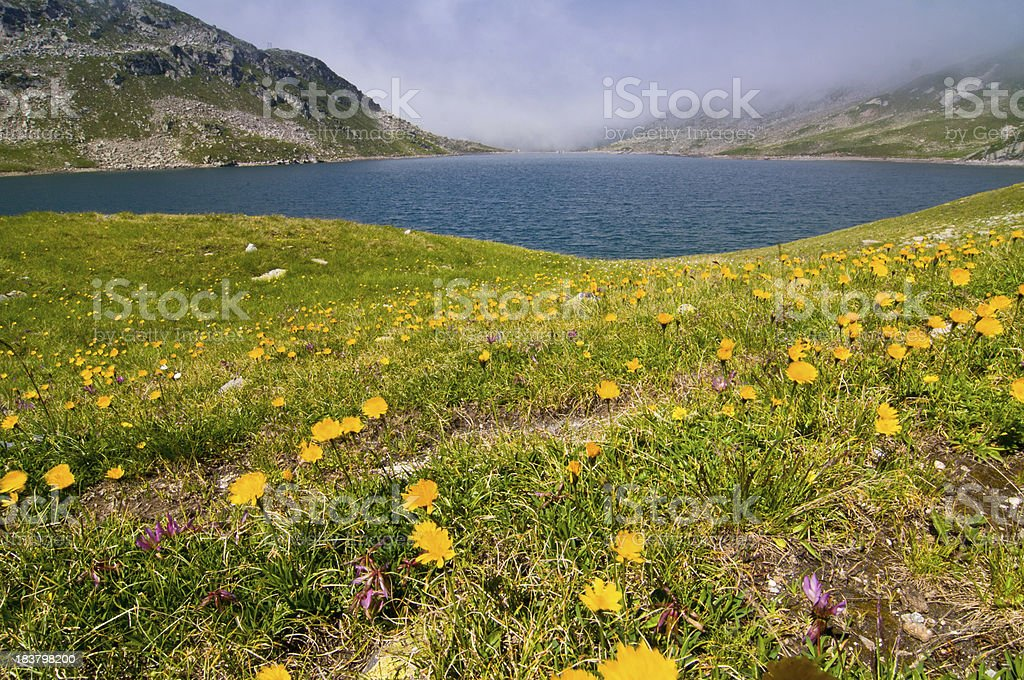 Mountains and valley royalty-free stock photo