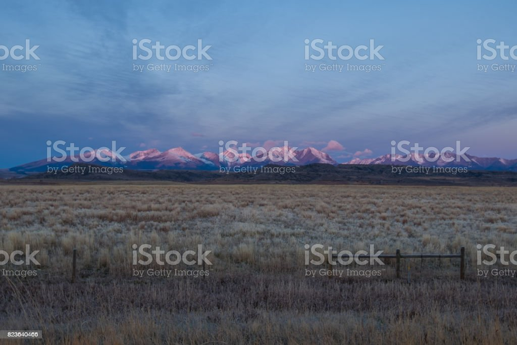 Mountains at a Distance stock photo