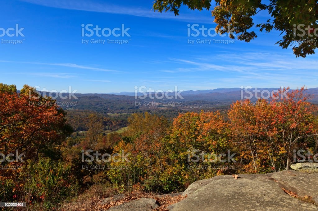 Mountains at Jump Off Rock stock photo