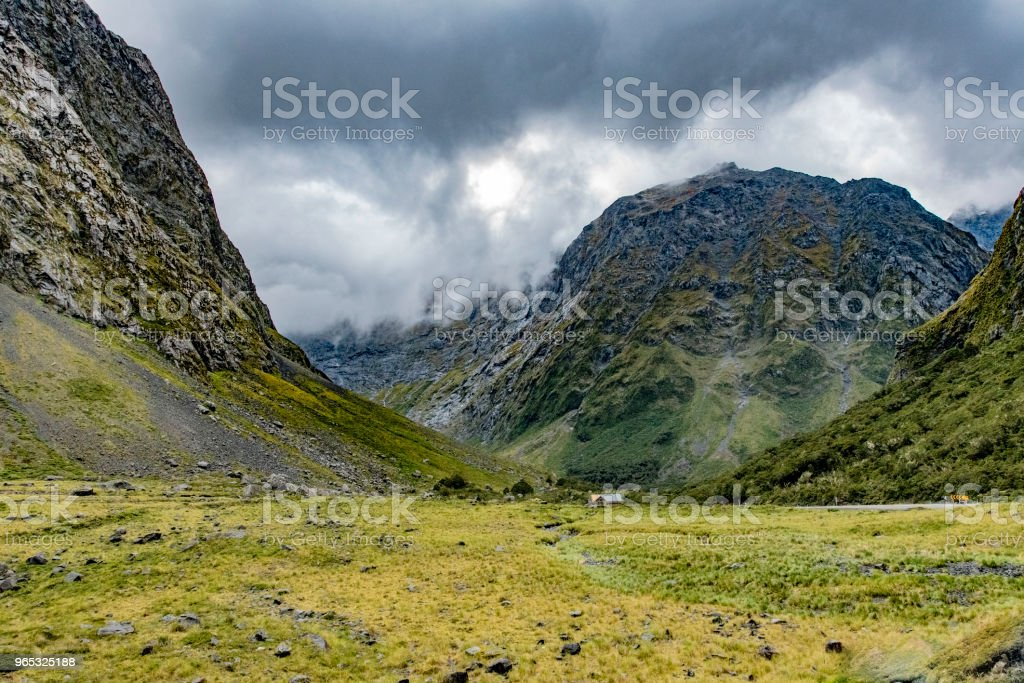 Mountains at Milford Sound, New Zealand royalty-free stock photo