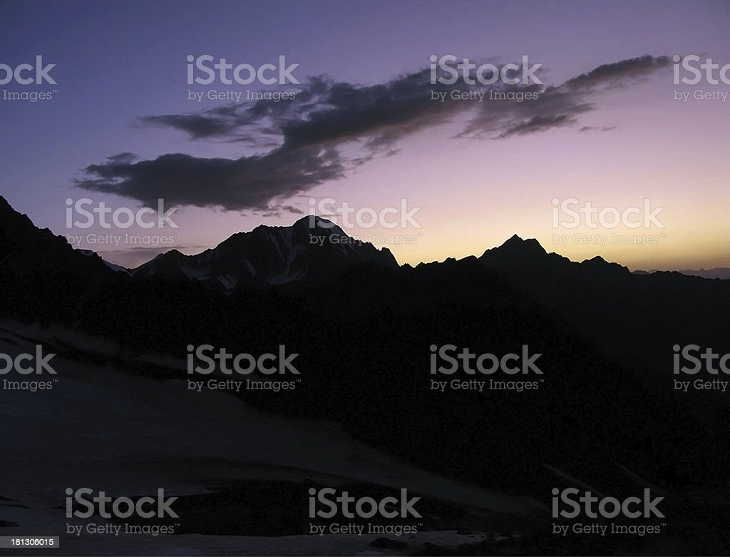 Mountains at sunset royalty-free stock photo
