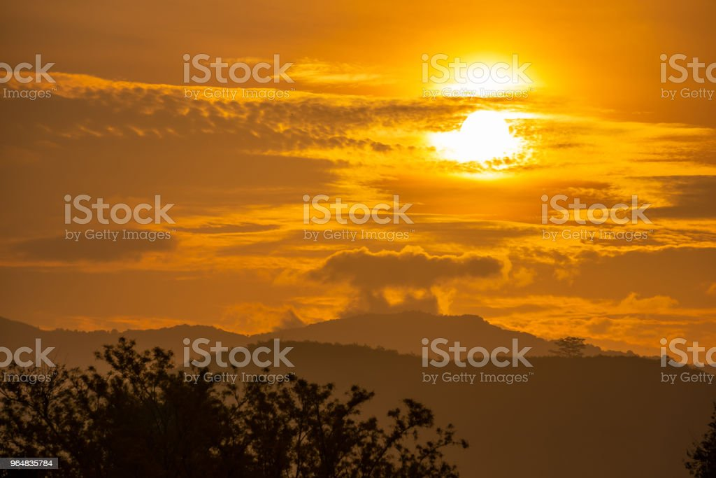 mountains at sunshine royalty-free stock photo