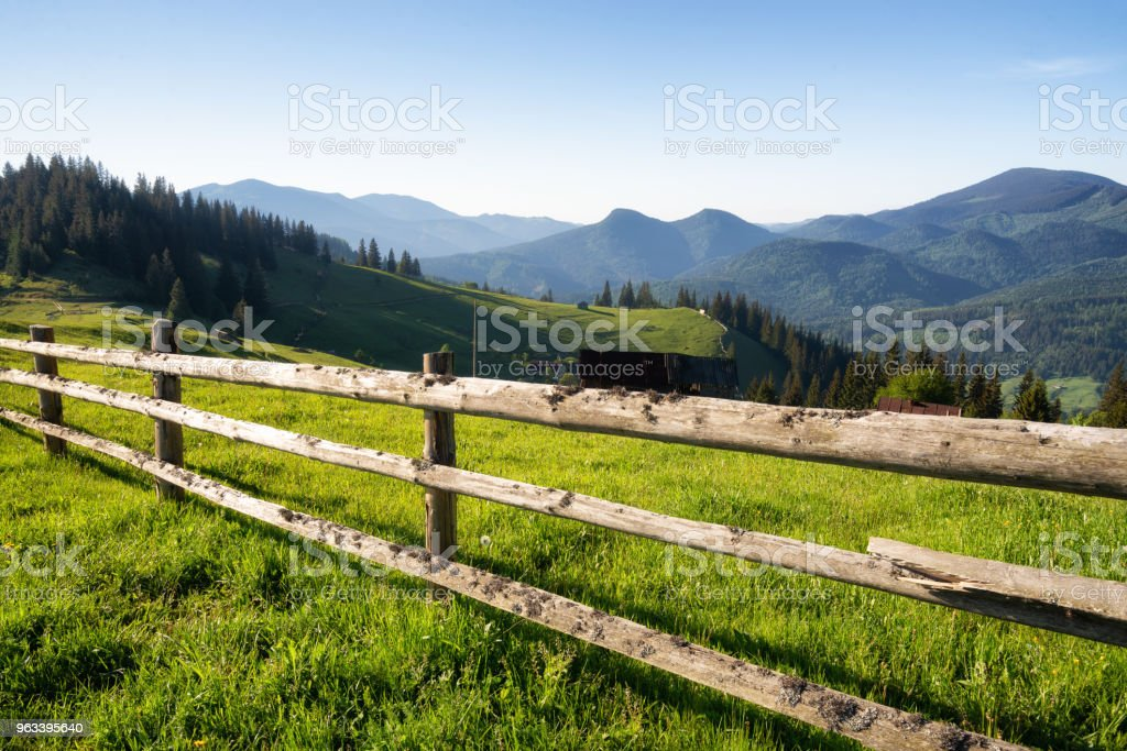 Mountains at the morning time. Beautiful natural landscape at the summer time stock photo