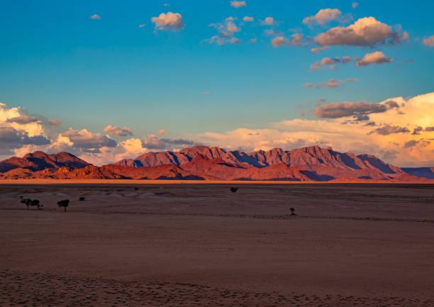 Mountains at the namib desert in Namibia stock photo