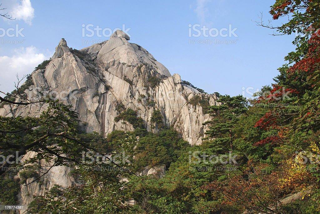 mountains Bukhansan in Seoul royalty-free stock photo