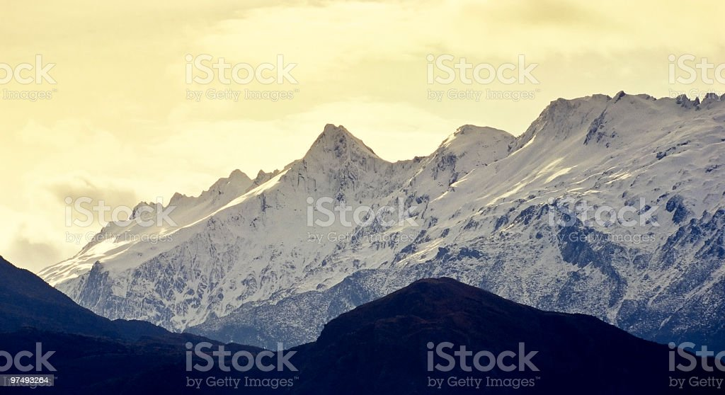 mountains covered by snow.tif royalty-free stock photo