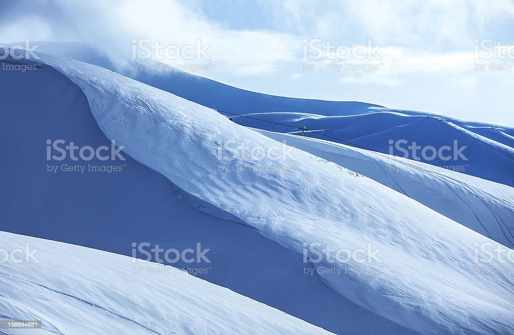 Mountains covered snow royalty-free stock photo