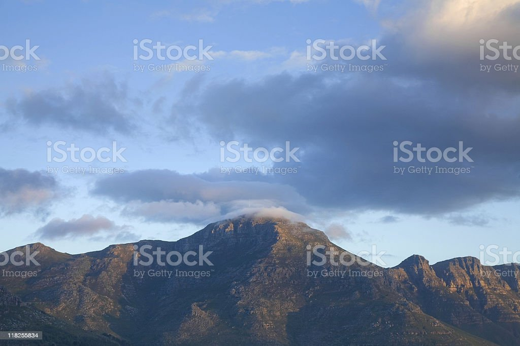 Mountains, evening light royalty-free stock photo