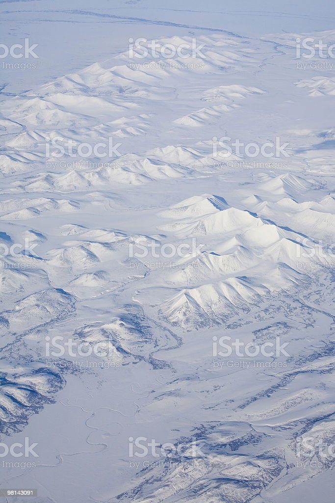 mountains from above royalty-free stock photo