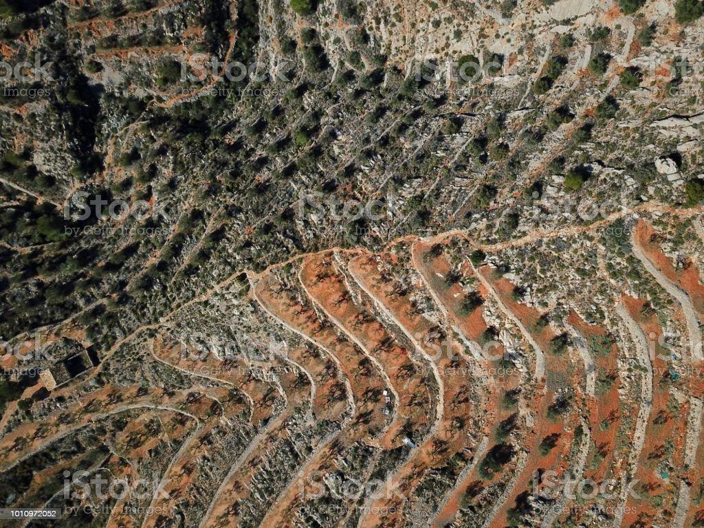 Montañas desde el aire - foto de stock