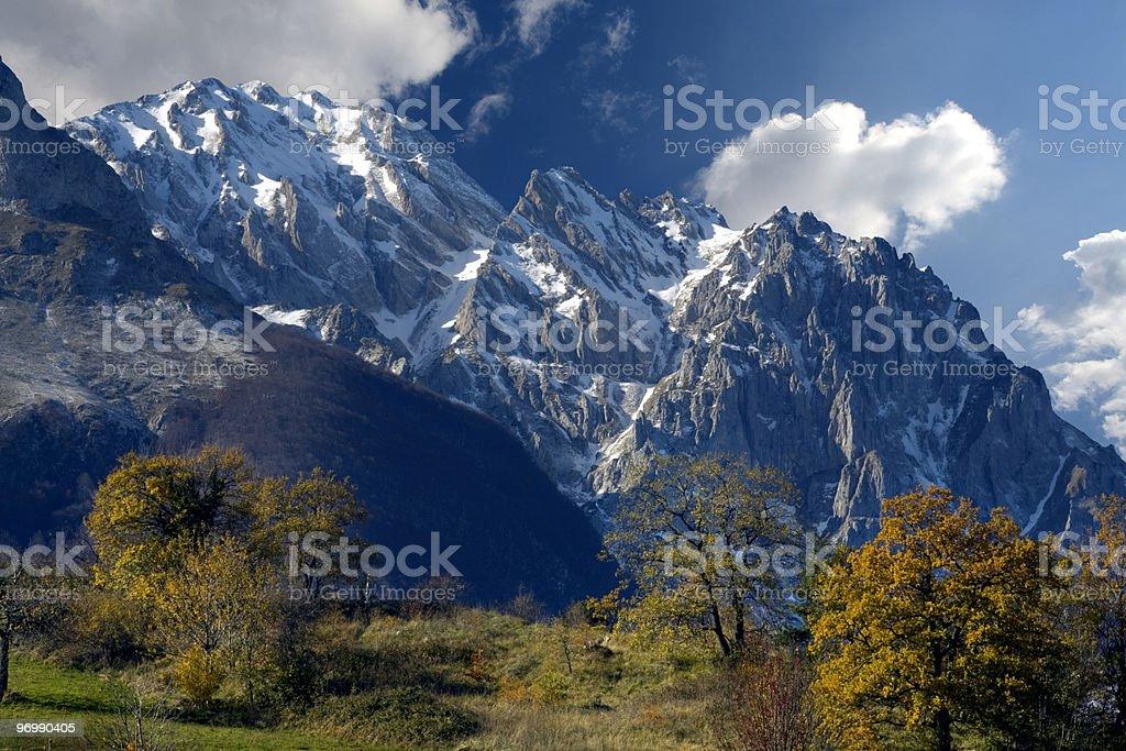 Mountains in Abruzzo royalty-free stock photo